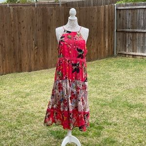 Cupio Extra Large Soft Red Floral Dress NWT